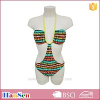 Tribal hot halter swimwear for sexy women