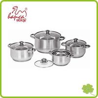Good Qulaity Stainless Steel 8 Piece Cookware Set Induction Cooktop Pots & Pans