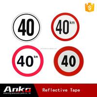 25km clear reflector aluminium traffic sign, truck speed limiter