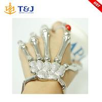 >>>>>2015 Halloween Hand Skeleton Elastic Bracelet Bangle Rings