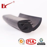 Weatherstripping rubber seal strip with different materials