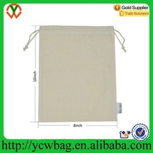 Factory delivery high quality cotton muslin drawstring flour sack