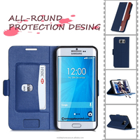 Colorful Compact Flip Pu Case For Samsung Galaxy Note 5 Edge