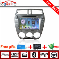 Bway 2 din car video player for CITY 2012 car dvd player 256 MB RAM with car Radio bluetooth,steering wheel