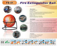 home abc class portable automatic fire extinguisher ball /fire fighting unit