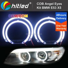 Best Price Complete Kit 7000K White COB LED Halo Ring for BMW X5 E53 1999-2004