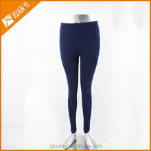 2015 New fashion seamless legging with flower printed on the leg side