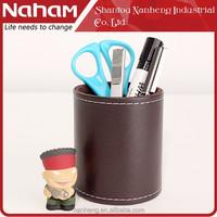 NAHAM 2015 Desktop PVC Leather Pen Container