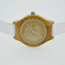 High quality 30m water resisitant bamboo wood watch leather