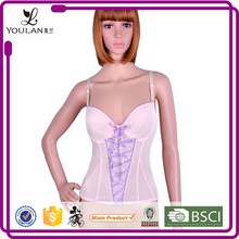 Fast Delivery Elegant Slimming Lace Up Red Black Mature Women Sexy Lingerie Corset