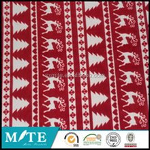 fashion printed Christmas flannell fleece fabric in roll