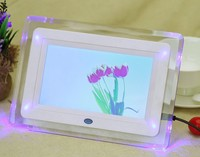 cheapest best selling White 7 inch HD TFT LCD Digital Photo Frame Picture Frame with Slideshow Transparent