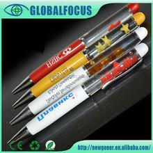 2015 Shenzhen Hot selling promotional novelty liquid floating pen with logo