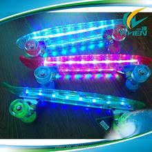 LED light skateboard deck with led light wheel skateboard