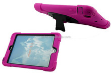 Shockproof hybrid military case with 360 swivel rotating stand for iPad min 123