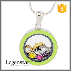 New Costume Jewelry China Manufacturer Round White Gold Locket Energy KTPD12