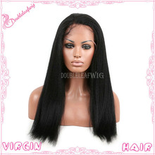 brazilian virgin human hair full lace wigs kinky straight human hair wig with baby hair for black women