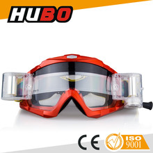excellent quality racing competition MX goggle clear lens roll off motorcycle for sale