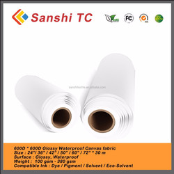 Water Based Poly Cotton Canvas Solvent Printing For Inkjet Printing