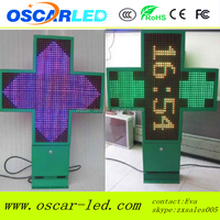 IP66 3D led cross by wifi control/3D High quality LED Pharmacy cross for pharmacy