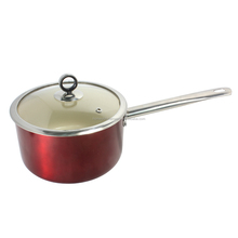 20cm Saucepan with ceramic coating inside and metallic gold powder coating paint