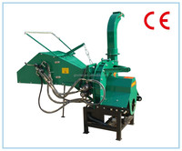CE approved Tractor PTO Wood Chipper TH-8, two hydraulic feeding rollers