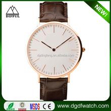 Popular casual men's fashion rose quartz watch luxury