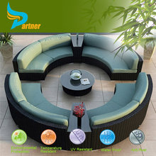 Life Style Comfortable Outdoor Furniture Rattan with UV-proof Big Round Sofa Set