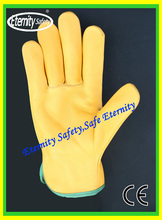 customized size with logo different quality cow leather work glove for option for industrial workers