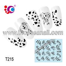 2014 new designs fashion nail ar sticker nail accessories black white nail stickers