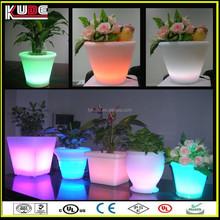 cheap modern plastic led flower pot for home garden use