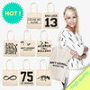 alibaba china hot sell high quality 8oz natural color ladies cotton handbags with custom print cotton bags