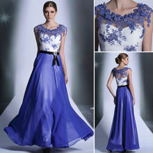 2015 royal blue long lace evening gowns dress 30889