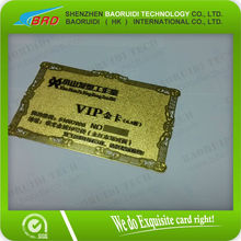 high quality customized gold foil embossed printing plastic business card