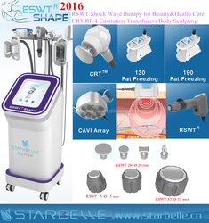New Products 2016 Shock wave Therapy cavitation anti cellulite equipment natural slimming