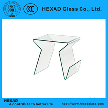 hot set glass bent coffee table MC33/bent glass coffee table