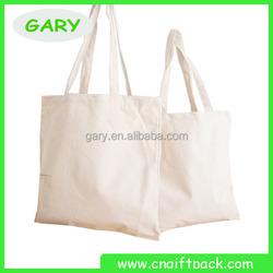 custom plain white cotton canvas tote bag