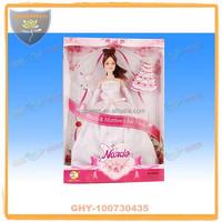 Wedding vinyl barbiee doll 11.5 inch with luxury dress