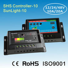 PWM 12V 24V 5A solar controller with timer and light control function