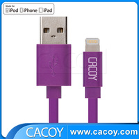 Purple color Apple MFi Certified charger USB Cable for iPhone 6 S , iPad iPod