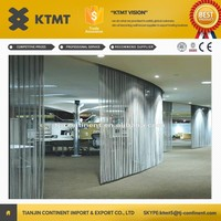 Made in China KTMT Stainless Steel Metal Wire Mesh Screens & Room Dividers/Decorative Metal Mesh Curtain/ Metal Mesh Drapery