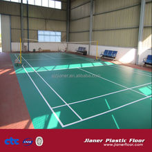 anti-static pvc sports flooring for badminton field surface