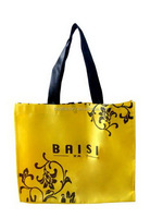 Wholesale burlap bags with handles, cheap nylon foldable shopping bag, christmas bag