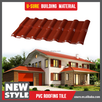 pvc roof tile / impact resistance light weight spanish tile roof / garden gazebo greenhouse roof panels
