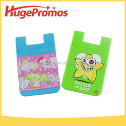 Promotional Silicone Sticker Card Wallets Printed Phone Card Holders