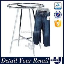 Clothes shop elegant adjustable metal clothing round display racks
