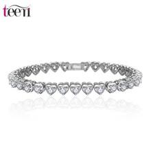 Teemi Marca al por mayor Diseño chispeante Corazón perfecto corte Borrar CZ Diamond delicado de las mujeres elegantes de la boda