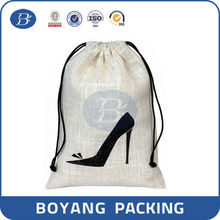 Wholesale putting shoes cotton drawstring bags