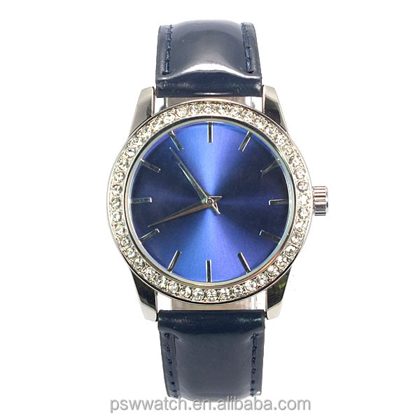 Custom Blue face lady vogue watch,wholesale wrist watch women fashion hand watch