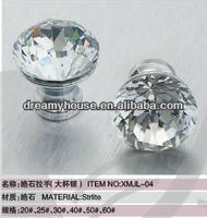 clear crystal knobs / plastic knobs / door knobs